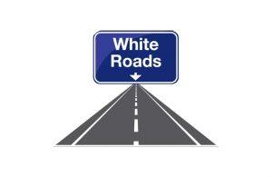 White roads logo