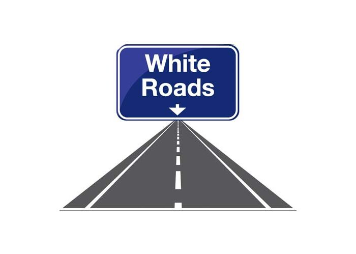 White roads logo
